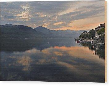 Lake Orta Wood Print by Joana Kruse