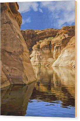 Lake Powell Stillness Wood Print