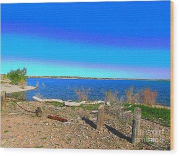 Lake Pueblo Painted Wood Print