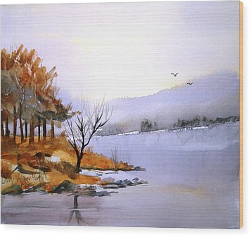 Lake Ransom Wood Print by Larry Hamilton