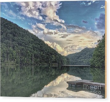 Wood Print featuring the photograph Lake Reflections by Kerri Farley