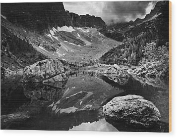 Wood Print featuring the photograph Lake Reflections by Yuri Santin