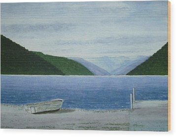 Lake Rotoroa, South Island, New Zealand Wood Print by Peter Farrow