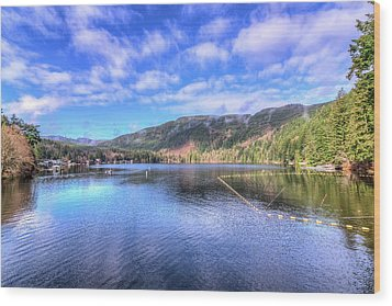 Lake Samish Wood Print by Spencer McDonald