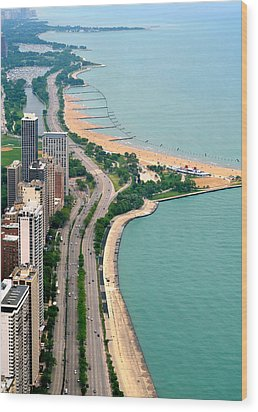 Lake Shore Dr . Chicago Wood Print