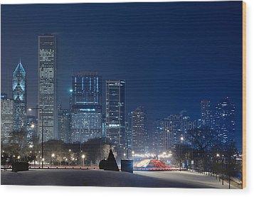 Lake Shore Drive Chicago Wood Print by Steve Gadomski