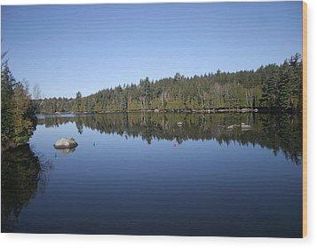Lake Side View Wood Print by Kate  Leikin