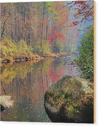 Wood Print featuring the painting Chattooga Paradise by Steven Richardson
