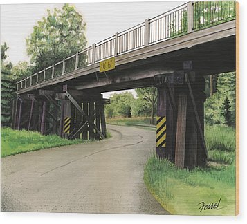 Lake St. Rr Overpass Wood Print