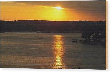 Lake Sunset  Wood Print by Don Koester
