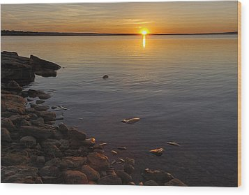 Lake Sunset Wood Print by Rob Graham