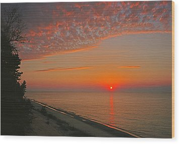 Lake Superior Sunset Wood Print