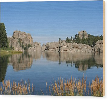 Lake Sylvan Wood Print