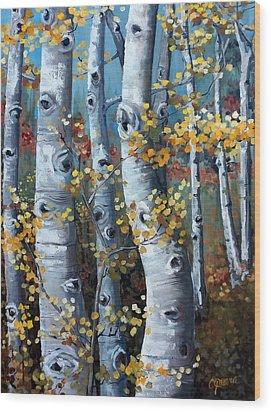 Lake Tahoe Aspens Wood Print