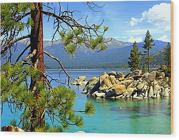 Lake Tahoe Colors Wood Print by Lynn Bawden