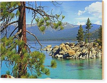 Lake Tahoe Colors Wood Print by Lynn Bawden