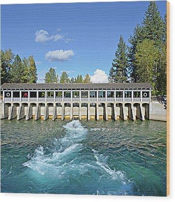 Lake Tahoe Dam Wood Print