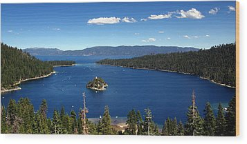 Lake Tahoe Emerald Bay Wood Print by Jeff Lowe