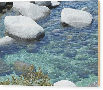 Lake Tahoe In May Wood Print by Dan Whittemore