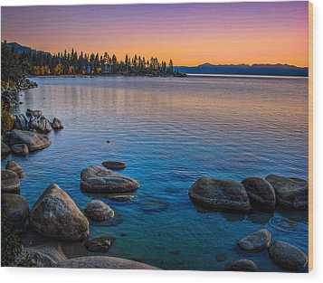 Lake Tahoe State Park Fall Sunset Wood Print