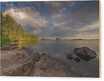 Lake Three Wood Print