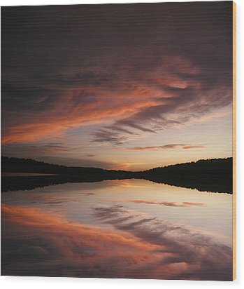 Wood Print featuring the photograph Lake Thunderbird Sunset by Rick Friedle