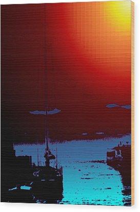 Lake Union Moorage Wood Print by Tim Allen