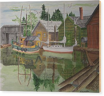 lake Union Seattle Wood Print by Robert Thomaston