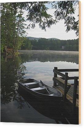 Lake Vanare Wood Print by Lali Partsvania
