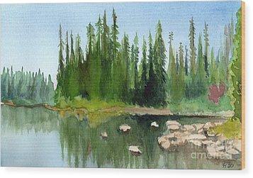 Lake View 1 Wood Print by Yoshiko Mishina