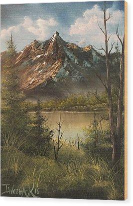 Lake View Mountain  Wood Print