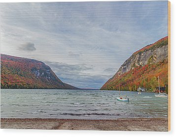 Lake Willoughby Blustery Fall Day Wood Print