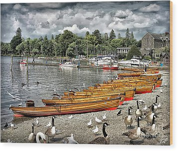 Wood Print featuring the photograph Lake Windamere by Walt Foegelle