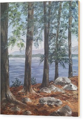 Lake Winnepesaukee Wood Print