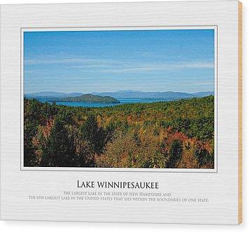 Lake Winnipesaukee - Fall Wood Print by Jim McDonald Photography
