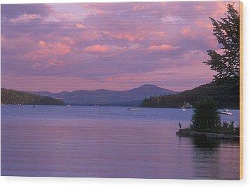 Lake Winnipesaukee Evening Wood Print by John Burk