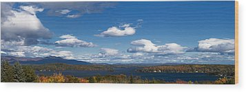 Lake Winnipesaukee New Hampshire In Autumn Wood Print by Stephanie McDowell