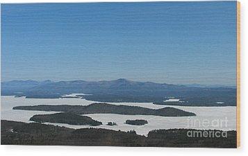 Lake Winnipesaukee View From Mt. Major Wood Print by Michael Mooney