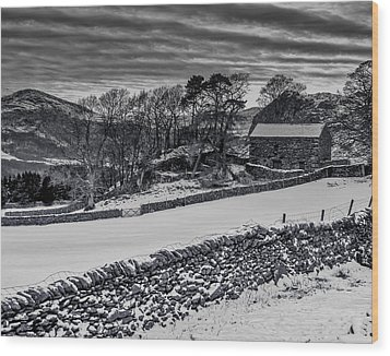Wood Print featuring the photograph Lakeland Barn by Keith Elliott