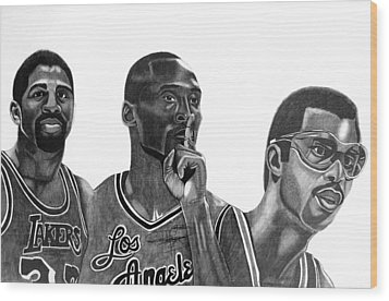 Laker Greats Wood Print by Keeyonardo