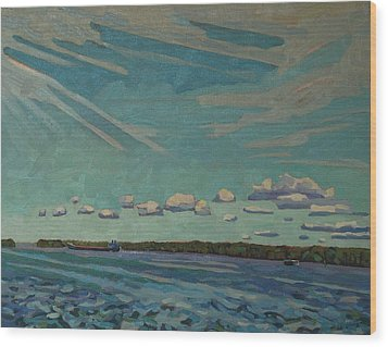 Laker Headed Downstream Wood Print by Phil Chadwick