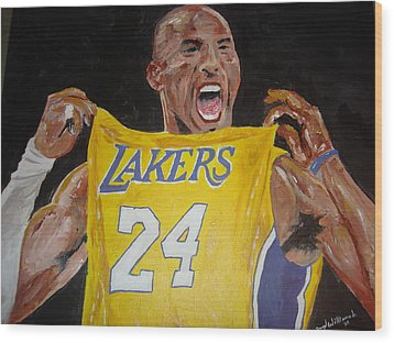 Lakers 24 Wood Print by Daryl Williams Jr