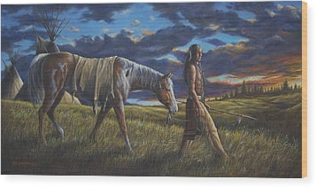 Lakota Sunrise Wood Print