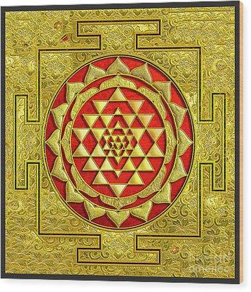 Lakshmi Kubera Yantra Wood Print