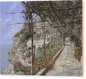 L'albergo Dei Cappuccini-costiera Amalfitana Wood Print by Guido Borelli