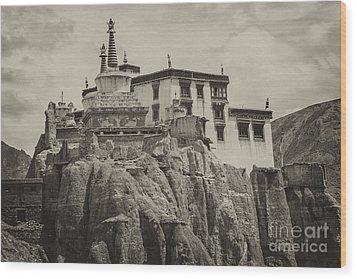 Lamayuru Monastery Wood Print by Hitendra SINKAR