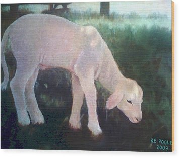Lamb Of God Wood Print by Rebecca Poole