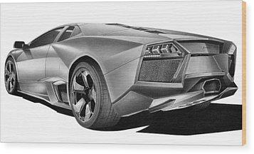 Lamborghini Reventon Wood Print by Lyle Brown