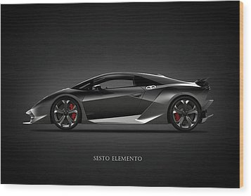 Lamborghini Sesto Elemento Wood Print