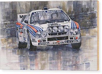 Lancia 037 Martini Rally 1983 Wood Print by Yuriy  Shevchuk